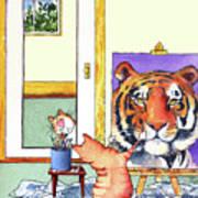 Self Portrait, Tiger Art Print