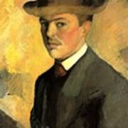 Self Portrait With Hat Art Print