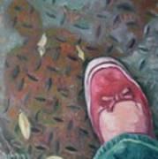 Selfportrait Red Shoe Art Print