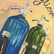 Seltzer Bottles Art Print