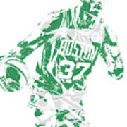 Semi Ojeleye Boston Celtics Pixel Art 2 Art Print