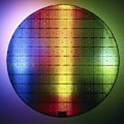 Semiconductor Wafer Art Print