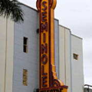 Seminole Theatre 1940 Art Print