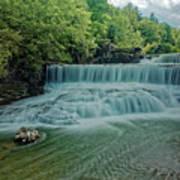 Seneca Mills Waterfall Art Print