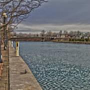 Seneca Falls Waterfront Art Print