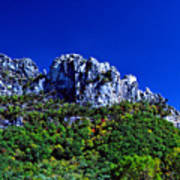 Seneca Rocks National Recreational Area Art Print by Thomas R Fletcher