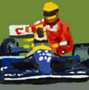Senna And Mansell Art Print