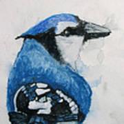 Sentimental Blue Art Print