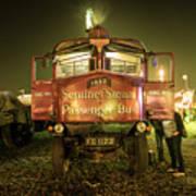 Sentinel Steam Bus By Night  Art Print
