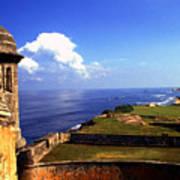 Sentry Box And Sea Castillo De San Cristobal Art Print