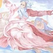 Separation Of The Planets Sistine Chapel Michelangelo Art Print