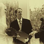 Sepia 2 Wedding Couple Example Art Print