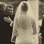 Sepia 3 Wedding Couple Example Art Print