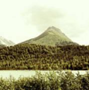 Sepia Alaska  Art Print