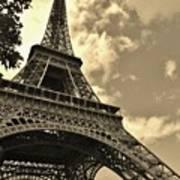 Sepia Eiffel Art Print