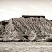 Sepia Tones Nature Landscape Nevada  Art Print
