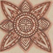 Sepia Zen 2 Art Print