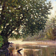 September Dawn Little Sioux River - Plein Air Art Print