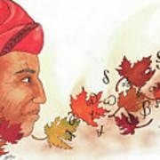 Seqouyahs Gift To The Cherokee Art Print
