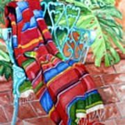 Serape On Wrought Iron Chair I Art Print