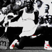 Serena Williams Victory Art Print by Brian Reaves