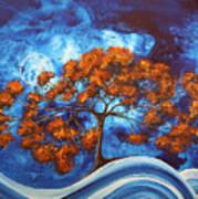 Serendipitous Original Madart Painting Art Print