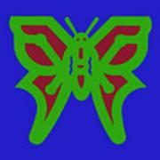 Serendipity Butterflies Blueredgreen 6of15 Art Print