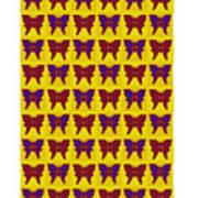 Serendipity Butterflies Brickgoldblue 26 Art Print