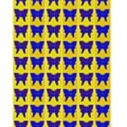 Serendipity Butterflies Brickgoldblue 27 Art Print