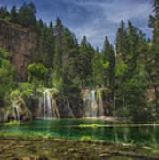 Serene Hanging Lake Waterfalls Art Print