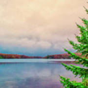 Serene Lake Harmony Art Print
