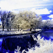 Serenity Bridge Art Print