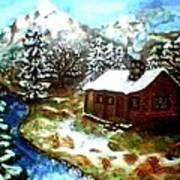 Serenity Cabin Art Print