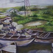 Serenity Of Waterside Art Print