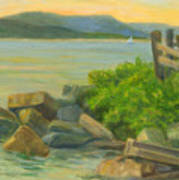 Serenity On The Hudson Art Print