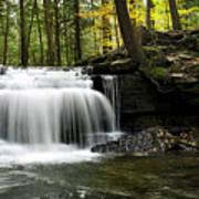 Serenity Waterfalls Landscape Art Print