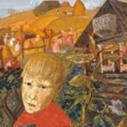 Sergei Esenin 1895-1925 As A Youth, Boris Grigoriev Art Print