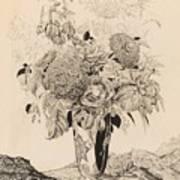 Sergey Vasilievich Chekhonin Russian 1878-1936 Flower Bouquet, 1935 Art Print