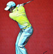 Sergio Garcia By Mark Robinson Art Print