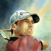 Sergio Garcia In The Castello Masters Art Print