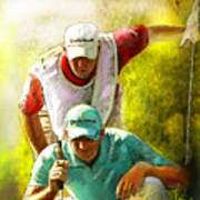 Sergio Garcia In The Madrid Masters Art Print