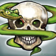 Serpent N Skull Art Print