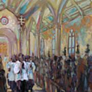 Service In San Fernando Cathedral Art Print