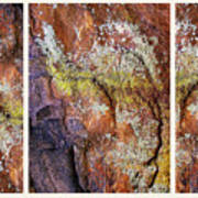Set In Stone Triptych Art Print