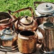 Set Of Ancient Teapots  Art Print