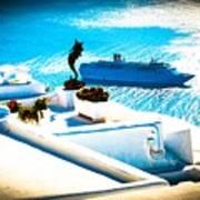 Set Sail Santorini Art Print