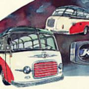 Setra Bus Kassbohrer S11 Art Print