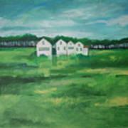 Settlement By Field Art Print