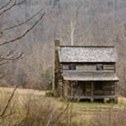 Settlers Cabin In Cades Cove Art Print