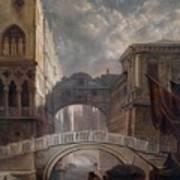 Seufzerbrucke Venice Art Print